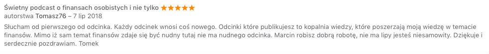 Recenzja iTunes Tomasz76