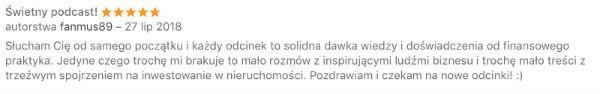 Komentarz czytelnika fanmus89