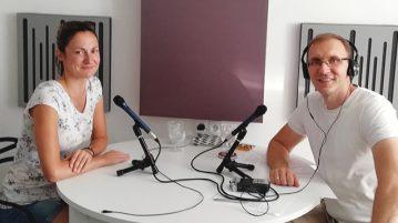 Justyna i Marcin podczas rozmowy