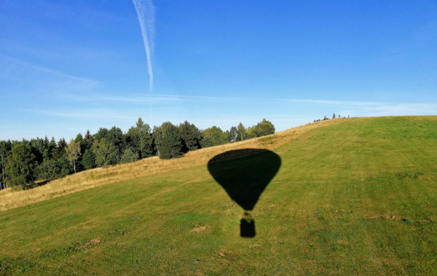 Widok zbalonu 3 - cień balonu