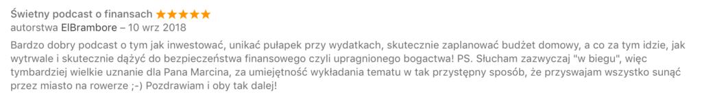 opinia iTunes ElBrambore