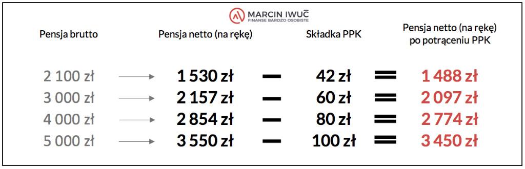 Pracownicze Programy Kapitałowe (PPK) Ile pensji mniej narękę?