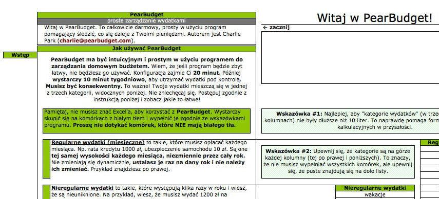 Budżet domowy szablon Excel