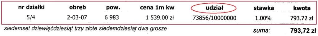 Przykładowe pismo natemat wysokości opłaty. Sprawdzisz wnim ile gruntu należy teraz doCiebie?