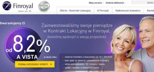 Reklama nastronie Finroyal