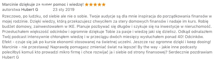 Recenzja iTunes napisana przezHuberta - 5 gwiazdek na5