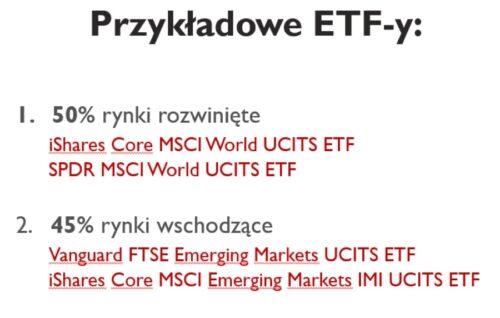 Przykładowe ETF doportfela.