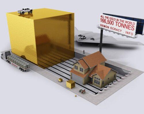 Jak wygląda 193 400 ton złota? - grafika