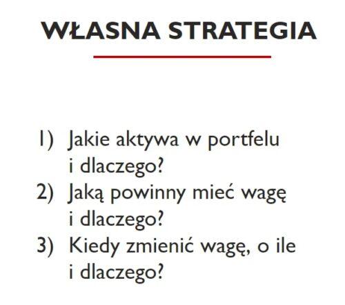 Własna strategia inwestycyjna - co wziąć poduwagę?