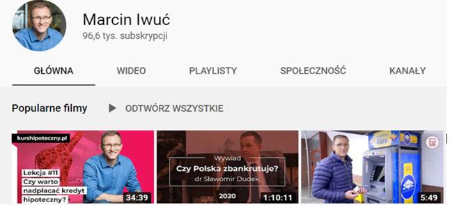 marcin iwuć youtube