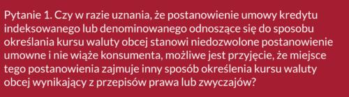 Frankowicze, pytanie doSądu Najwyższego ws. kredytów CHF
